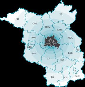 Karte Berliner Umland